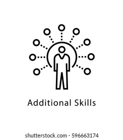Additional Skills Vector Line Icon
