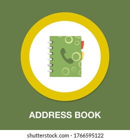 Address book flat icon, contacts and notebook, phone book sign, vector graphics, a flat vector eps 10