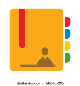 address book icon. Logo element illustration. address book sign symbol design. colored collection. address book concept. Can be used in web and mobile
