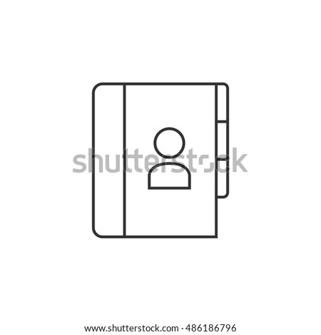 address book icon thin outline style stock vector royalty free