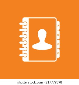 Address book icon - Vector