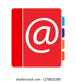 address book icon-contact illustration- directory vector-telephone isolated-bookmark icon-notebook illustration