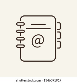Address book line icon. Contact list, organizer, diary. Office concept. Vector illustration can be used for topics like office supply, stationery, directory