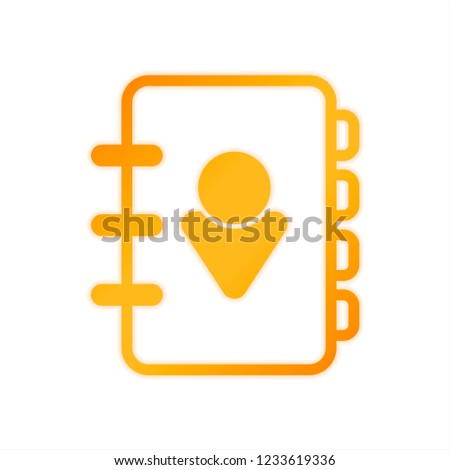 address book person on cover simple stock vector royalty free
