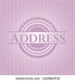 Address pink emblem. Vintage.