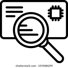 Address Scan Concept Vector line Icon Design, postal service symbol on white background, physically transporting postcards and parcels Sign, Courier and Shipping Services Stock illustration