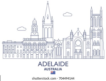 Adelaide Linear City Skyline, Australia