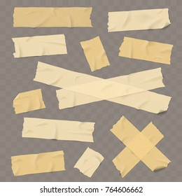 Adhesive paper tape with shadow isolated realisatic vector illustration