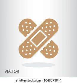 adhesive plaster icon - medical plaster sign, vector illustration of Eps10