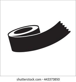 Adhesive tape flat icon. Vector illustration