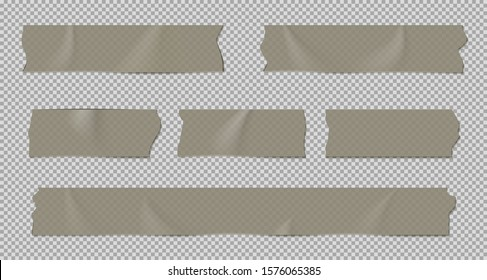 Adhesive tape set isolated on transparent background