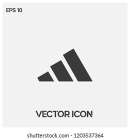 Adidas vector icon illustration.Flat adidas icon vector logo.Premium quality.