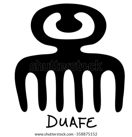Adinkra Symbol Duafe Meaning Wooden Comb Stock Vector Royalty Free