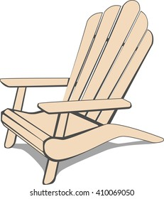 Adirondack Beach chair. Vector illustration.