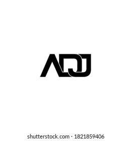 diseño original del logotipo de monograma de la letra adj