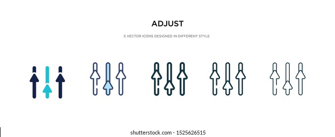 adjust icon in different style vector illustration. two colored and black adjust vector icons designed in filled, outline, line and stroke style can be used for web, mobile, ui