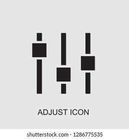 adjust icon . Editable filled adjust icon from e-commerce. Trendy adjust icon for web and mobile.