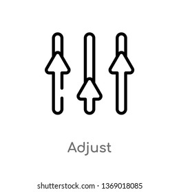 adjust vector line icon. Simple element illustration. adjust outline icon from geometry concept. Can be used for web and mobile