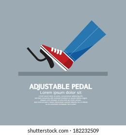 Adjustable Pedal Vector Illustration