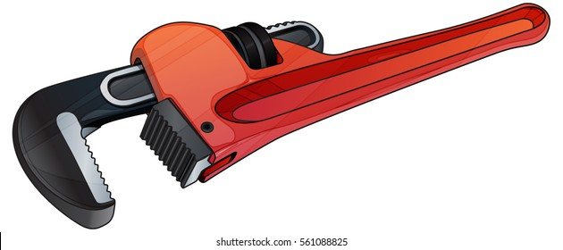 Adjustable Pipe Wrench - Illustration