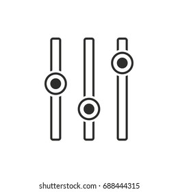 Adjustment vector icon. Black illustration isolated on white background for graphic and web design.
