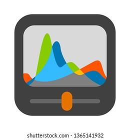 adjustments chart photography icon. photo album