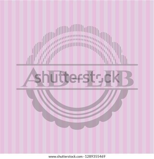 Adlib Pink Emblem Stock Vector (Royalty Free) 1289355469