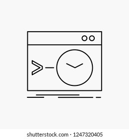 Admin, command, root, software, terminal Line Icon. Vector isolated illustration