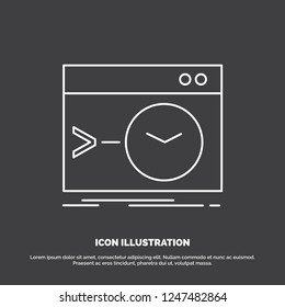 Admin, command, root, software, terminal Icon. Line vector symbol for UI and UX, website or mobile application