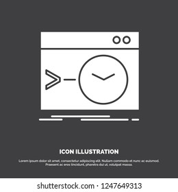 Admin, command, root, software, terminal Icon. glyph vector symbol for UI and UX, website or mobile application