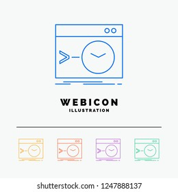 Admin, command, root, software, terminal 5 Color Line Web Icon Template isolated on white. Vector illustration