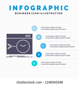 Admin, command, root, software, terminal Infographics Template for Website and Presentation. GLyph Gray icon with Blue infographic style vector illustration.