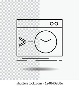 Admin, command, root, software, terminal Line Icon on Transparent Background. Black Icon Vector Illustration