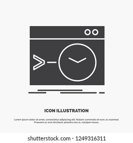 Admin, command, root, software, terminal Icon. glyph vector gray symbol for UI and UX, website or mobile application