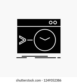 Admin, command, root, software, terminal Glyph Icon. Vector isolated illustration