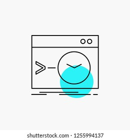 Admin, command, root, software, terminal Line Icon