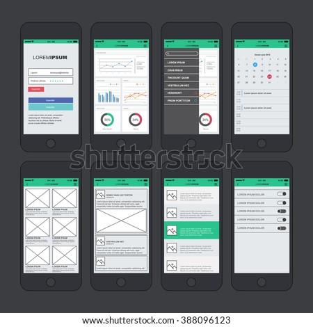 Admin dashboard application template design mobile stock vector admin dashboard application template design for mobile phone maxwellsz