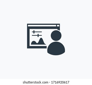 Admin panel icon isolated on clean background. Admin panel icon concept drawing icon in modern style. Vector illustration for your web mobile logo app UI design.