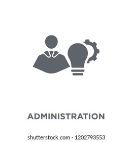 Administration icon. Administration design concept from Administration collection. Simple element vector illustration on white background.