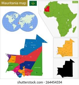 Administrative division of the Islamic Republic of Mauritania