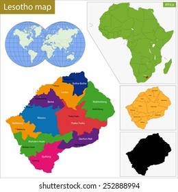 Administrative division of the Kingdom of Lesotho