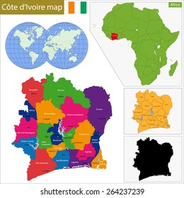 Administrative division of the Republic of Cote dIvoire