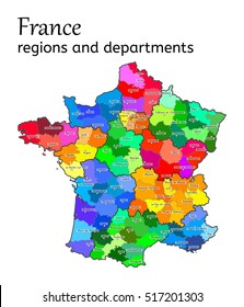 Map Of France Departments.Map France Department Stock Vectors Images Vector Art Shutterstock