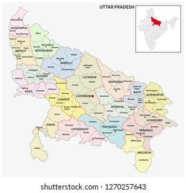 Uttar Pradesh Map Images, Stock Photos & Vectors | Shutterstock