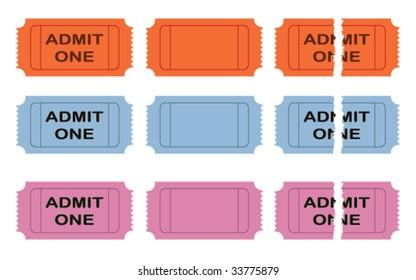 Admit one vector cinema ticket