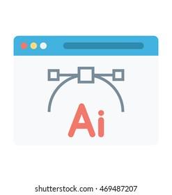 Adobe AI Vector Icon