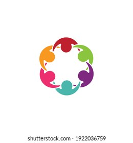 Adoption and community care Logo template vector