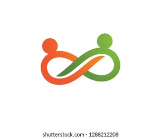 Adoption and community infinity care Logo template icon