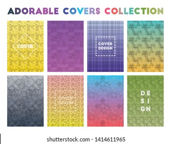 Adorable Covers Collection. Adorable geometric patterns, powerful vector illustration.