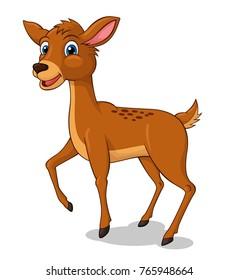 Adorable Deer Cartoon. Vector Illustration